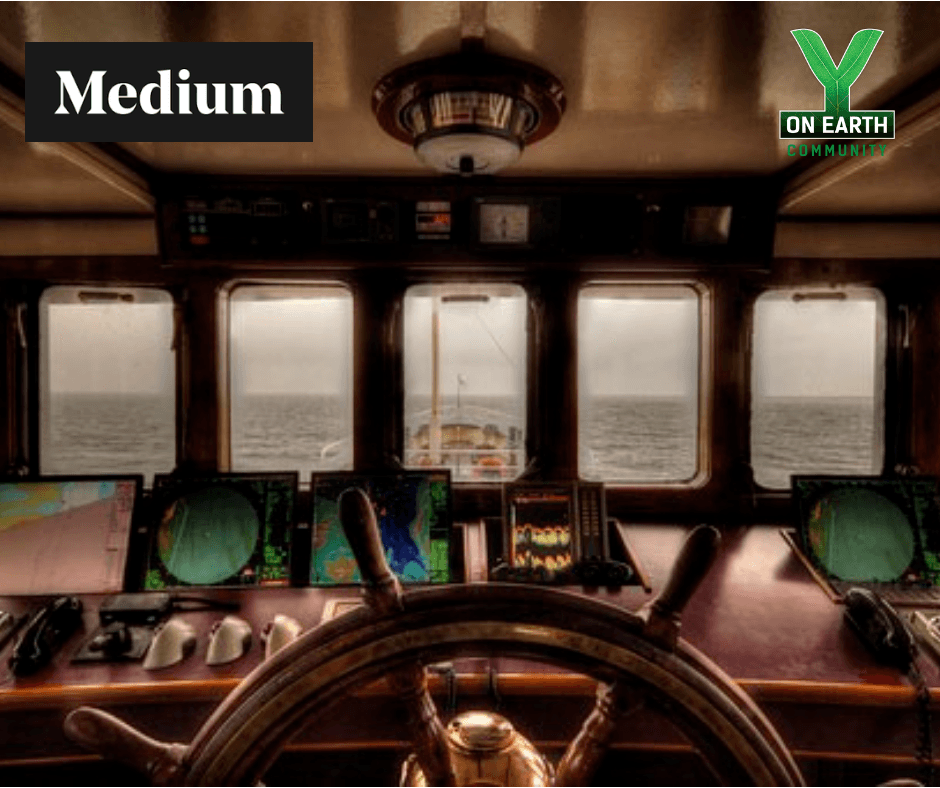 Navigation Ship Bridge with Logos - Medium & Y on Earth