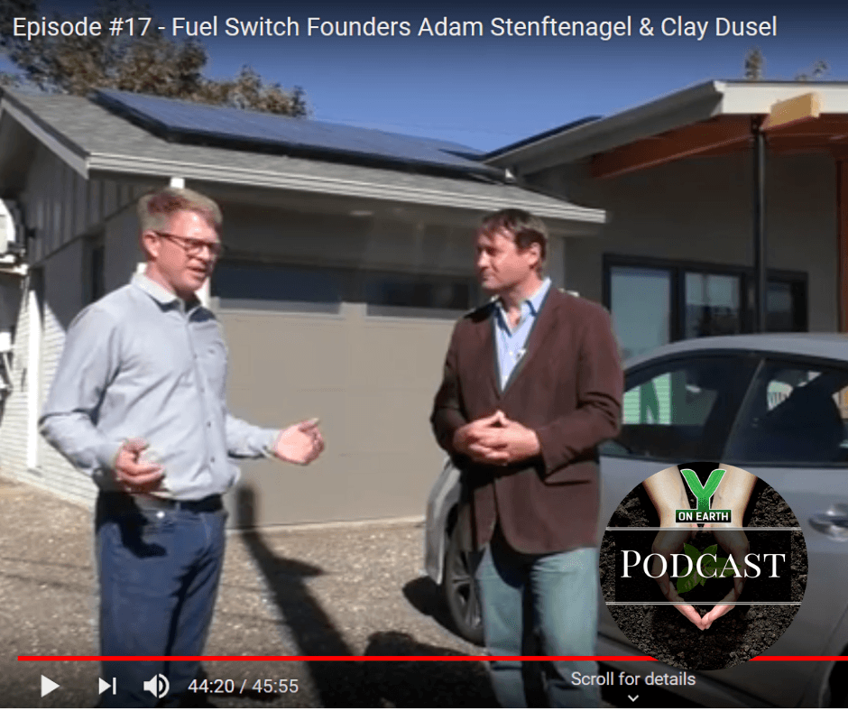 Fuel Switch founders, Adam Stenftenagel & Clay Dusel, give a private tour of Stephen Price's Net Zero home.