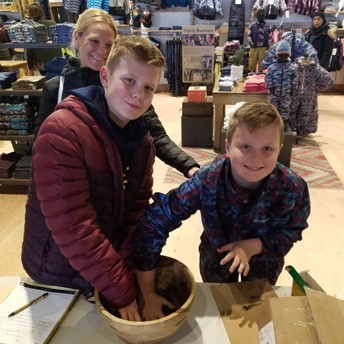 Kids Stirring Together